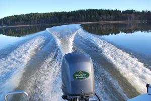 Motorboat in Teijo